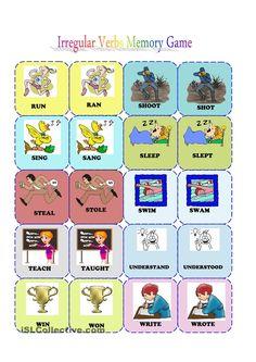 Irregular verbs memory card game (3/3)