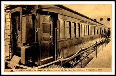 El vagón situado en el Museo de Campiegne