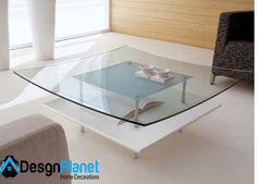 Glass center table design