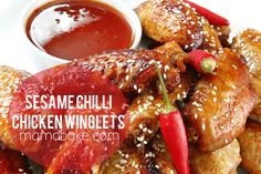 Sesame Chilli Chicken Wings.  BIG BATCH RECIPE!  ..and it's amazing