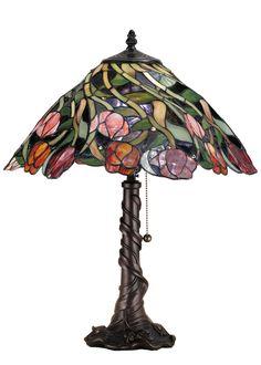"Meyda 21""H Spiral Tulip Table Lamp"