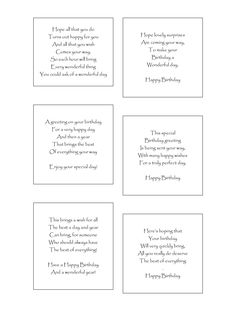 60 Best Birthday Verses For Cards Images