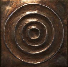 "Ed Wilson Untitled  2016 hammered steel 26 3/4"" x 26 3/4"" x 3"""