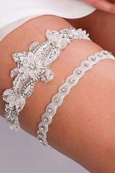 18 Exquisite Wedding Garters For Perfect Wedding Look ❤ See more: http://www.weddingforward.com/wedding-garters/ #weddings #garters