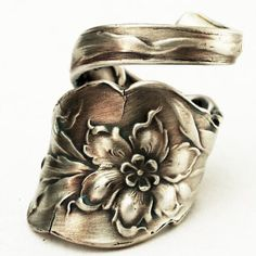 Lovely Columbine Sterling Silver Flower Spoon Ring by Spoonier, $54.00