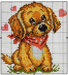 Собачка, схемы вышивки крестиком