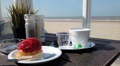 24 maart 2017, Castricum aan zee en aan koffie met gebak