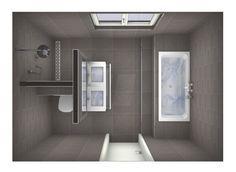 Mögliche Raumaufteilung Badezimmer