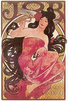 """JOB"" 1913, affiche de Mucha"