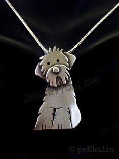 Metal Clay Jewelry, Dog Jewelry, Animal Jewelry, Jewelry Art, Jewelry Gifts, Jewelry Design, Jewellery, Silver Necklaces, Silver Jewelry