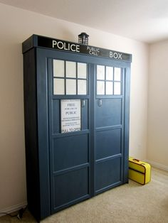 There's more. Why settle for an ordinary bed when you can go full TARDIS with it. After all; a Doctor Who Murphy bed would be the ultimate time and space solution.