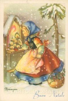 Christmas Manger, Christmas Jesus, Merry Little Christmas, Retro Christmas, Vintage Christmas Cards, Xmas Cards, Christmas Art, Vintage Cards, Winter Christmas