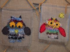 Owl Crafts, Crafts For Kids, Arts And Crafts, Rya Rug, Auction Projects, Textiles, Sewing Class, Homemade Crafts, Elementary Art
