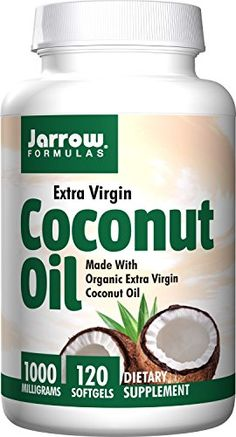 Jarrow Formulas Coconut Oil 100 Organic Extra Virgin 1000 mg 240 Count -- If you love this, read review now: at Cooking Ingredients.