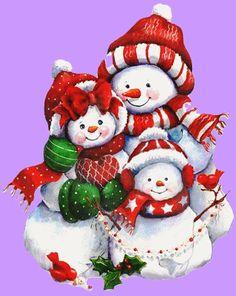 holiday, ruth morehead, christmas, snow famili, snowfamili, snowman famili, snowpeopl, families, christma snowmen