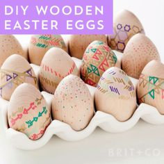 Get creative and decorate a dozen wooden Easter eggs with this spring video DIY tutorial.