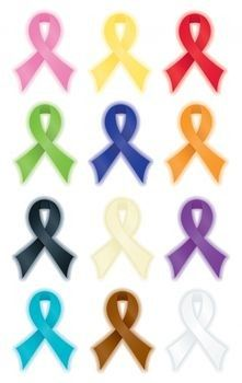 Awareness Ribbon Color Meanings - I didn't know there were so many causes.