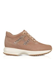 Discover Hogan new Shoes Collection for Women online.Discover sneakers, shoes with and without heels, sandals and ballerinas on our official website. Adidas Sneakers, Shoes Sneakers, Shoe Collection, New Shoes, Dust Bag, Studs, High Top Sneakers, Monogram, Footwear