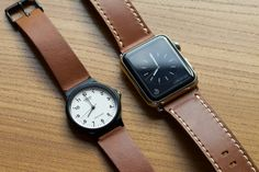 Casio watch strap in Vintage gold leather / Apple watch strap in Satchel brown leather Apple Watch Price, Apple Watch 3, Apple Watch Faces, Apple Watch Series 2, Gold Leather, Brown Leather, Apple Watch Leather Strap, Iphone Price, Apple Watch Accessories