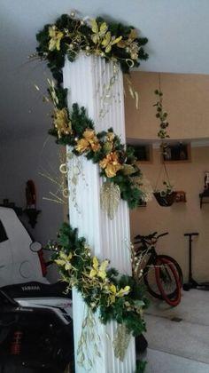 Navidad 2.015 decorar columnas