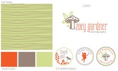 Whimsical pre-made branding kit.  http://brandexterous.com/product-category/kits/