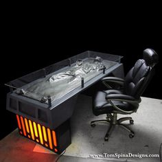Tom Spina and Richard Riley of Tom Spina Designs created the Han Solo in Carbonite Desk back in 2008