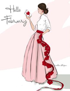 February- Hello February – Hearts – Greeting Cards – Quotes for Women – Jennifer Space