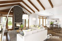 Dakota - Dobre Domy Flak & Abramowicz Beautiful House Plans, Beautiful Homes, Home Technology, House Inside, Good House, Houzz, Home Renovation, Outdoor Structures, House Design
