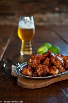 Chili Lime Beer Chicken - The Beeroness Beer Chicken, Chicken Wing Recipes, Chicken Chili, Chicken Wings, Lime Chicken, Buffalo Wild Wings, Beer Recipes, Cooking Recipes, Healthy Recipes