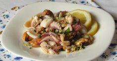 Segreti e consigli per preparare un' insalata di mare tenera e saporita con polpo, calamari, gamberi, antipasto o secondo di pesce da gustare freddo