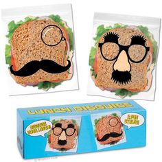 Lunch Disguise Sandwich Bags. Disguise your lunch from would-be thieves!