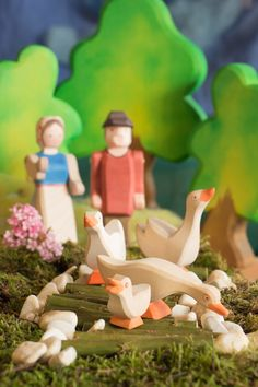 Our farm family... #ostheimer #farm #woodentoys #playing #holzspielzeug #children #kinder