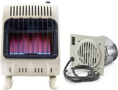 Mr. Heater 20K Vent-Free Blue Flame Natural Gas Heater (20,000 BTU/Hr.) and Blower Fan Kit for Even Heat Distribution Natural Gas Wall Heater, Ice Fishing, Fishing Shack, Walmart Sales, Best Space Heater, Home Heating Systems, Portable Heater, Blue Flames, Central Heating