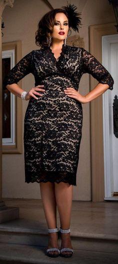 Fashion q black dress plus