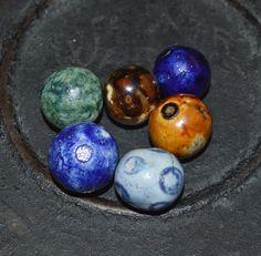 Bennington Marbles Including A Rare Purple My Marbles