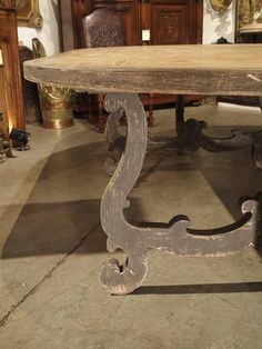 Large Oval Pine Dining Table from Italy 3