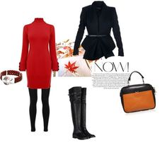 How to Wear Leggings in Fall-Winter With Dress and Fitted Jacket