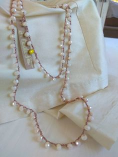 Knitting Projects, Hand Embroidery, Knots, Projects To Try, Anna, Handmade Jewelry, Arts And Crafts, Jewelry Making, Jewels