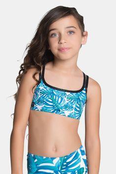 d863809df32c43 Sylvia P - Little Miss Palm Crop Top