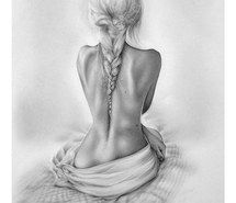 Inspiring image art, back, beautiful, black, black and white, braid, drawing, fashion, girl, hair, pencil, pencil art, skinny, black&amp,white #1169079 by awesomeguy - Resolution 714x1024px - Find the image to your taste