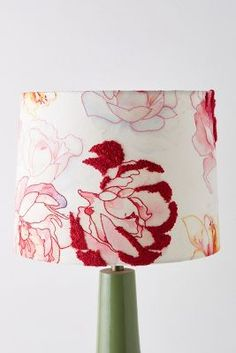 Sabrina Lamp Shade by Anthropologie in Pink, Lighting Unique Lamps, Unique Lighting, Salmon Run, Garden Lamps, Bird Perch, Finding Yourself, Retro, Floral, Artist