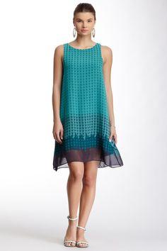 Max Studio Sleeveless Scarf Print Shift Dress by Max Studio on @HauteLook