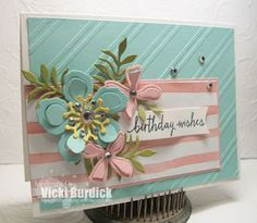 Hello Peeps! Today I am sharing a card I made using the sketch this week at The Challenge. This week is a sketch:  I had just got the Botanical Blooms and matching framelits so I needed to use them AS