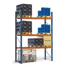 GTARDO.DE:  Palettenregal 588x270x110 cm, 3 Böden, Fachlast 3000 kg, Feldlast 9000 kg 729,00 €
