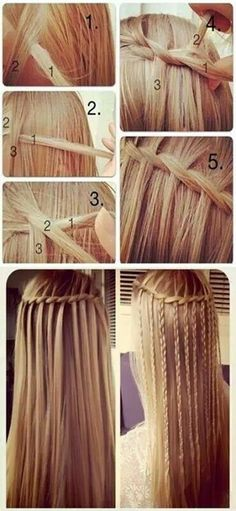 Cascading waterfall braid