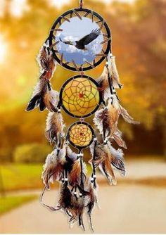 Owl Three-Circle Dream Catcher Hanging Decoration