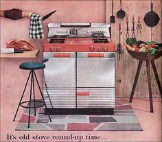 1954 Magic Chef Gas Range by American Vintage Home Old Kitchen, Vintage Kitchen, Retro Vintage, 1950s Kitchen, Retro Ads, Kitchen Things, Vintage Vibes, Vintage Stuff, Vintage Barbie