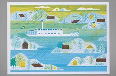 *NEW* Archipelago lithograph