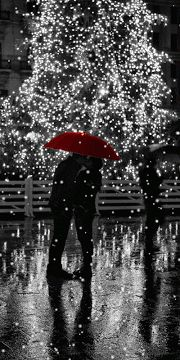 *Red Umbrella (Touch of Color)