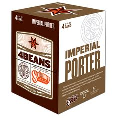 4 Bean Imperial Porter by @sixpointbrewery  - Great Design!!!